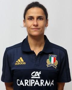 Parma, 13/12/2015, raduno della Nazionale femminile, squadra e profili individuali, Sara Barattin, 9/11/86, Rugby Casale.