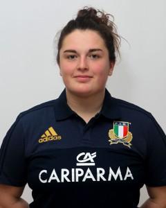 Parma, 13/12/2015, raduno della Nazionale femminile, squadra e profili individuali, Melissa Bettoni, 07/05/91, Stade Rennais Rugby.
