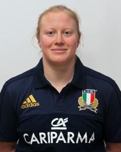 Parma, 13/12/2015, raduno della Nazionale femminile, squadra e profili individuali, Michela Este, 27/04/85, Benetton Rugby Treviso.