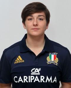 Parma, 13/12/2015, raduno della Nazionale femminile, squadra e profili individuali, Lucia Gai, 03/05/91, Rugby Riviera 1975.