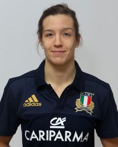 Parma, 13/12/2015, raduno della Nazionale femminile, squadra e profili individuali, Elisa Giordano, 01/11/90, Valsugana Rugby Padova.