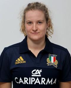 Parma, 13/12/2015, raduno della Nazionale femminile, squadra e profili individuali, Isabella Locatelli, 23/10/94, Rugby Monza 1949.