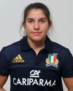 Parma, 13/12/2015, raduno della Nazionale femminile, squadra e profili individuali, Maria Magatti, 21/08/92, Rugby Monza 1949.