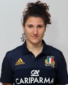 Parma, 13/12/2015, raduno della Nazionale femminile, squadra e profili individuali, Diletta Nicoletti, 12/10/91, Rugby Bologna1928.