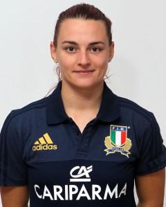 Parma, 13/12/2015, raduno della Nazionale femminile, squadra e profili individuali, Elisa Pillotti, 29/12/91, Rugby Parabiago.