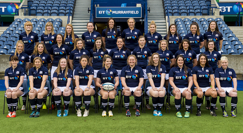 13/12/15 - 15121301 - SRU SCOTLAND WOMEN BT MURRAYFIELD - EDINBURGH Team Picture Back L-R: Hannah Smith, Lauren Harris, Laura Dowsett Karen Dunbar, Debs McCormack, Fiona Sim, Hannah Stodter, Lucy Park, Abbie Evans, Rhona Lloyd Middle L-R: Jenny Maxwell, Ellie Wilson, Catriona Syme, Gemma-Louise Forsyth, Louise McMillan, Debbie Falconer, Lynsey O'Donnell, Chloe Rollie, Lisa Thomson, Emily Irving Front L-R: Claire Bain, Sarah Law, Sarah Quick, Tracey Balmer, Lisa Martin, Heather Lockhart, Jade Konkel, Lindsay Smith, Emma Wassell, Lana Skeldon